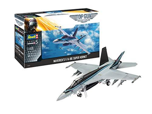 Revell 03864 F/A-18E Super Hornet Top Gun originalgetreuer Modellbausatz für Experten, unlackiert