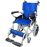 ケアテックジャパン 介助式 アルミ製 車椅子 スマイル -介助式- ブルー CA-80SU