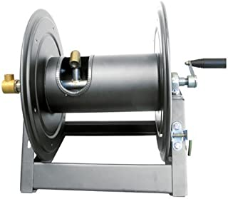 General Pump DHRA50450 Charcoal Steel A-Frame Hose Reel with Stainless Steel Swivel, 5000 psi, 3/8
