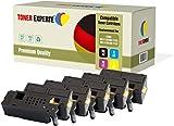 TONER EXPERTE 5 Premium Toner kompatibel zu 593-11130 593-11129 593-11128 593-11131 für Dell C1660, C1660W, C1660CN, C1660CNW