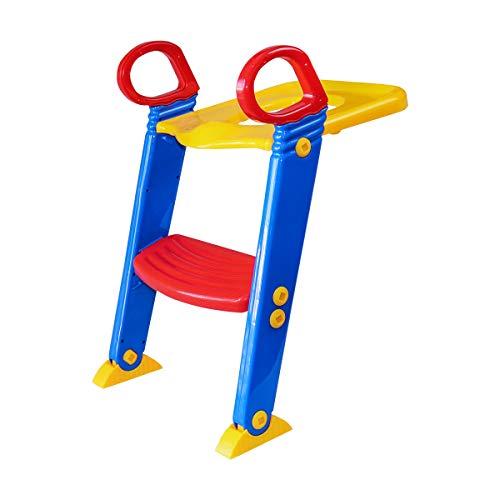 トイレ トレーニング 補助便座 はしご付 折り畳み トイレトイレーナー 踏み台 簡単取付_83200
