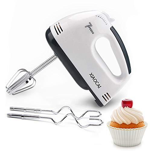 Batidora de mano eléctrica, batidora eléctrica de 7 velocidades, batidora de pasteles con 2 batidores y 2 ganchos para masa, batidora de mano para hornear en la cocina