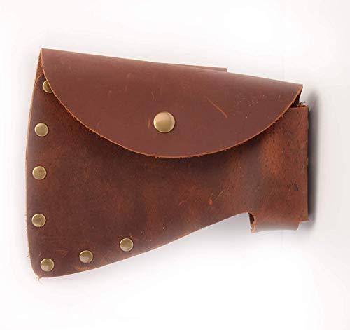 Della Stella Durable Leather Hatchet Head Sheath | Axe Case, Blade Cover, Lumberjack Outdoors Work Essentials,Fits Carpenter's Hatchet