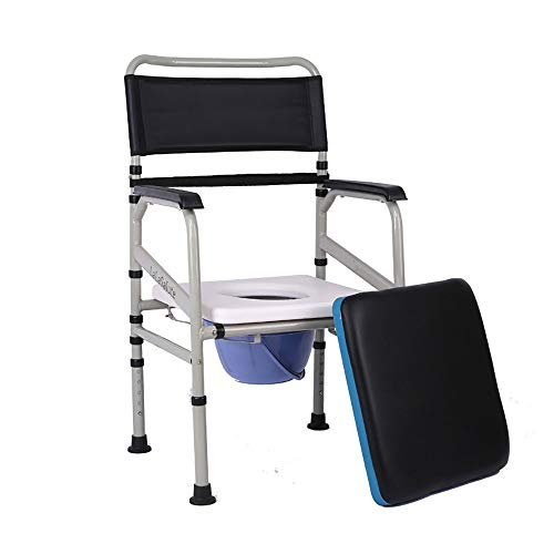 Yuany toiletstoel, multifunctioneel nachtkastje toilet/zwangere vrouw badstoel/ouderling commode stoel roestvrij staal wc-stoel/krukje inklapbare mobiele hoogte verstelbare toiletstoel