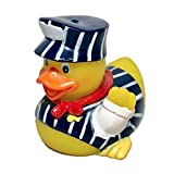 Ad Line Train Conductor Rubber Duck Bath Toy | Sealed Mold Free | Child Safe