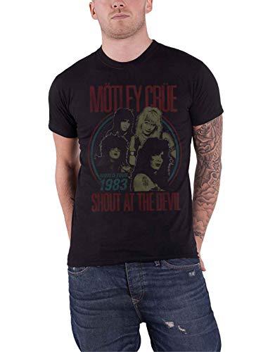 Motley Crue T Shirt Shout At The Devil Vintage World Tour Ufficiale Uomo Size M