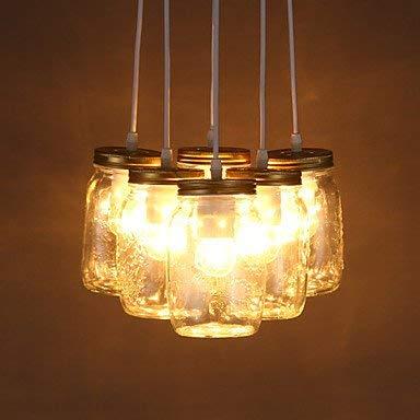 Moderne kroonluchter plafondverlichting hanger E2711 * 21 cm lijn 1 m LED IKEA creatieve wensen glazen fles lieve persoonlijkheid aparte kinderkamer Drie licht lamp 3C Ce FCC Rohs voor de woonkamer Sc