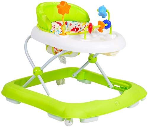 andador, andador Eko regulable en altura, asiento tapizado y zona de juegos, color:verde