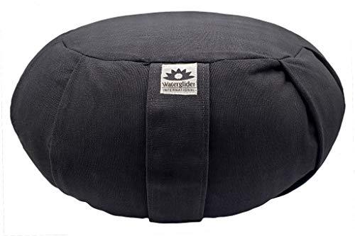 Waterglider International Zafu Yoga Meditation Pillow with USA Buckwheat Fill, Cotton- 6 Colors...