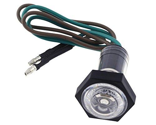 Standlicht LED universal, Linsen-Durchmesser 23 mm, 12V, Motorrad, 22x22x45mm