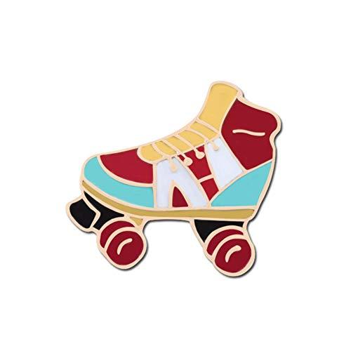 11 Stil Cartoon Broschen Emaille Pin Skates Schmuck Tasche Dekoration Leinwand Rollschuhe Boot High Heels Tanzliebhaber Geschenk für Mädchen