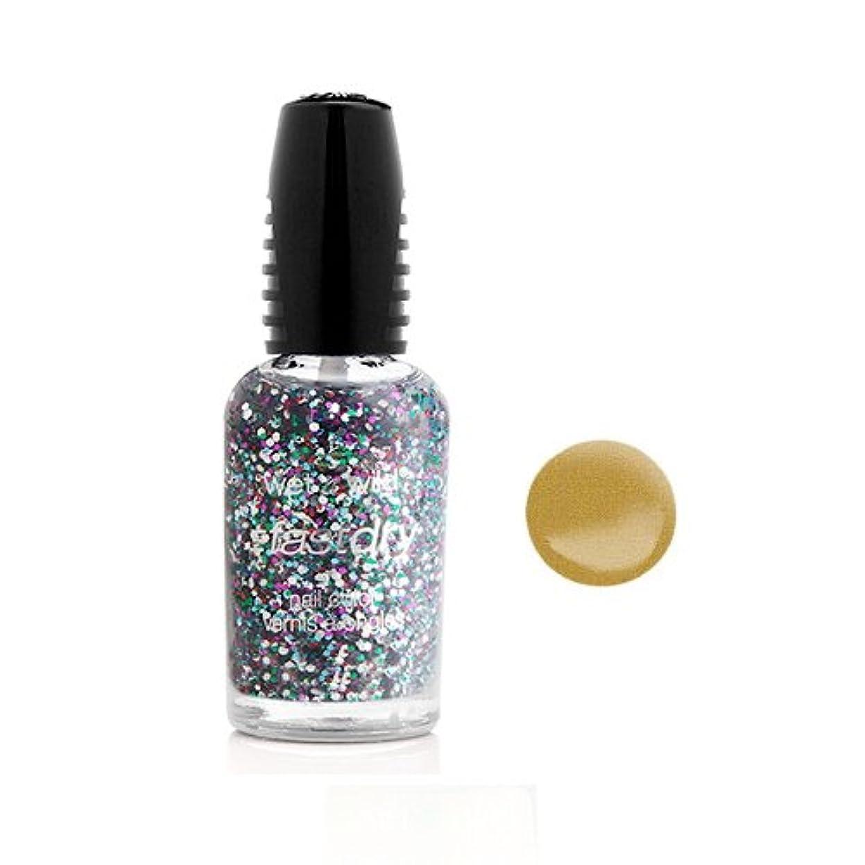 太字スクランブル行列(6 Pack) WET N WILD Fastdry Nail Color - The Gold & the Beautiful (DC) (並行輸入品)