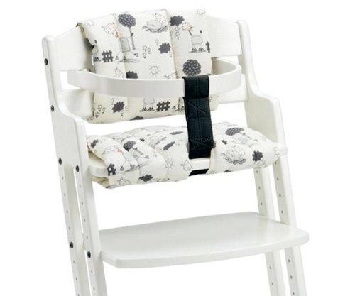Baby Dan 2436-2400-85 - Sitzkissen für Hochstuhl, mit Tarok-Druck, natur