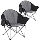 Best Portable Chairs - Oversized Camping Chair Lawn Chair Set of 2 Review