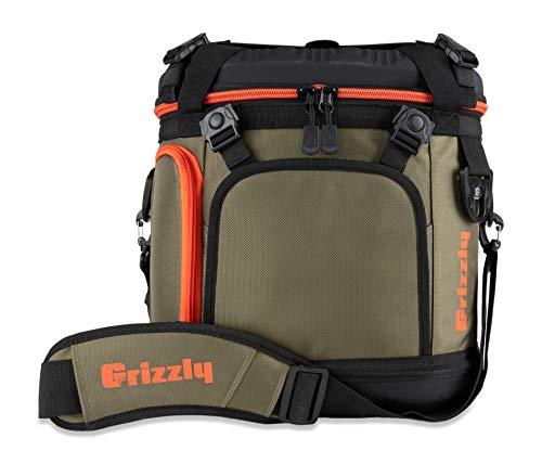 Grizzly Drifter 20 Flip-top Soft Cooler, Green/Black/Orange, 20 QT
