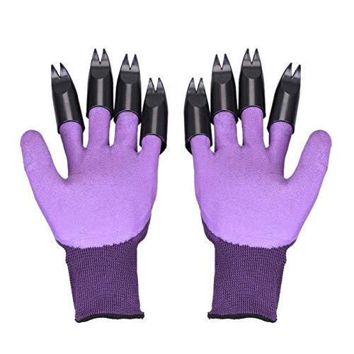 NoNo Gartenhandschuhe Damen 1 Paar Gartenhandschuhe mit Kralle Fingertip ABS Plastik Handschuhe Schnell Leicht zu Graben und Pflanzen for das Graben Pflanzgartengeräte gartenhandschuhe Herren