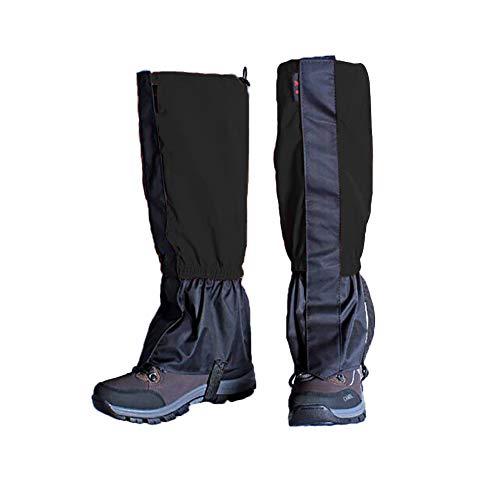 Zhongtou Ghette Uomo Ghette Termiche Impermeabili per Donna Ghette Leggere per Escursionismo sulla Neve per Passeggiate, ciaspolate, Caccia, Arrampicata e Corsa (Nero)