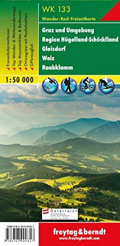WK 133 Graz und Umgebung - Region Hügelland-Schöcklland - Gleisdorf - Weiz - Raabklamm, Wanderkarte 1:50.000: Wandel- en fietskaart 1:50 000 (freytag & berndt Wander-Rad-Freizeitkarten)