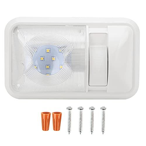 Deror 12V 800lm Luz de techo LED 3.5W Brillo Lámpara de techo rectangular ajustable para automóvil RV Remolque Camper Barco