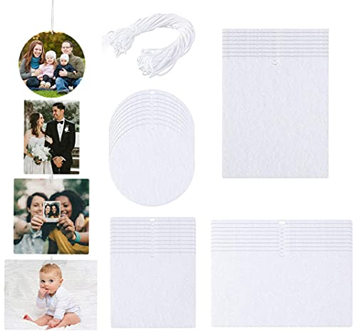 25PCS Air Freshener Sheets Sublimation Air Freshener DIY Air Freshener Scented Sheets Blank Car Air Freshener Sheets with Elastic String for Car Home Travel, 4 Styles (25 PCS)