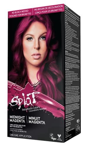 Splat Midnight Magenta Semi-Permanent Hair Color Kit No Bleach, Vegan, Cruelty Free