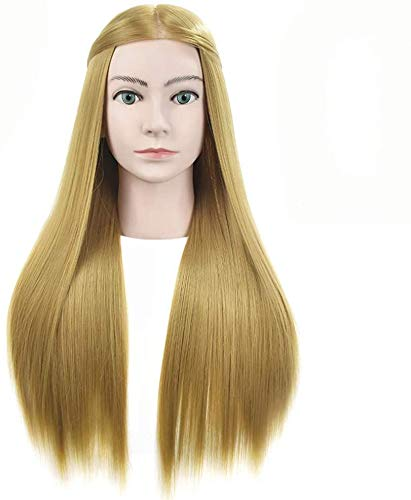 HWXDH Pratiquez la tête de modèle de Cheveux en Soie à Haute température, Le Coiffeur Peut pratiquer Le tressage