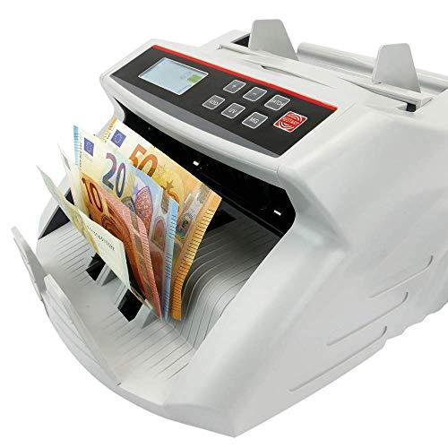 PrimeMatik - Contador de Billetes con Detector de Billetes Falsos UV MG1 MG2