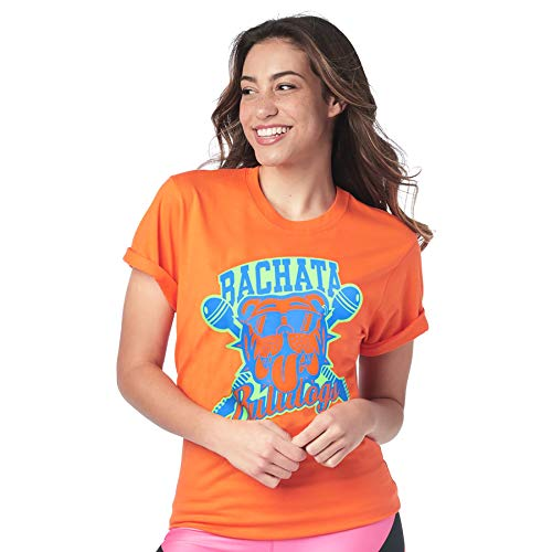 Zumba Active Dance Graphic Tees for Women Loose Fitness V-Neck Workout T Shirt Chemise Femme