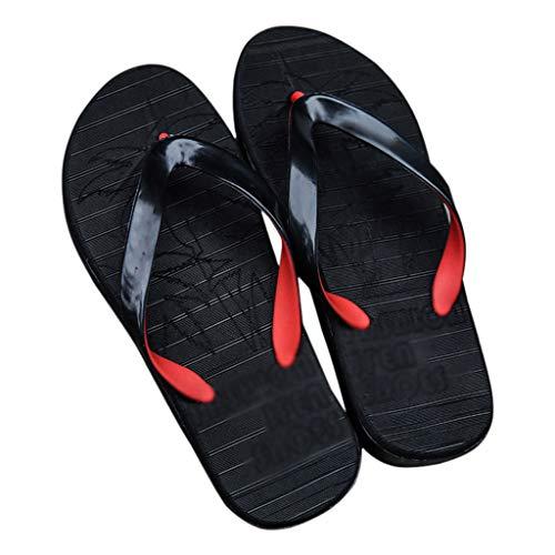 ZHJING Sandálias não-deslizantes de verão dos homens negros e chinelos de praia ao ar livre sapatos de praia menino flip flops (Size : 44)