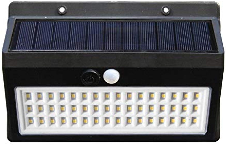 GTTflower 24LED Solarkrper-Sensorleuchte Solar-Wandleuchte Integrierte Straenleuchte für den Auenbereich (Farbe   schwarz)