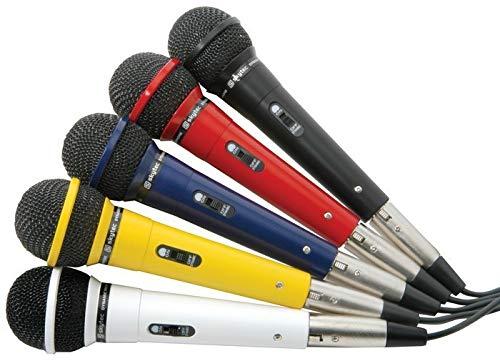SkyTec Set van vijf gekleurde Microfoons