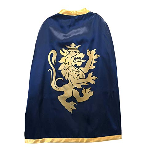 Liontouch 316LT Cape Satin Jouet Enfants Mousse Chevalier Noble Moyen-Âge Bleue | Costumes Enfants