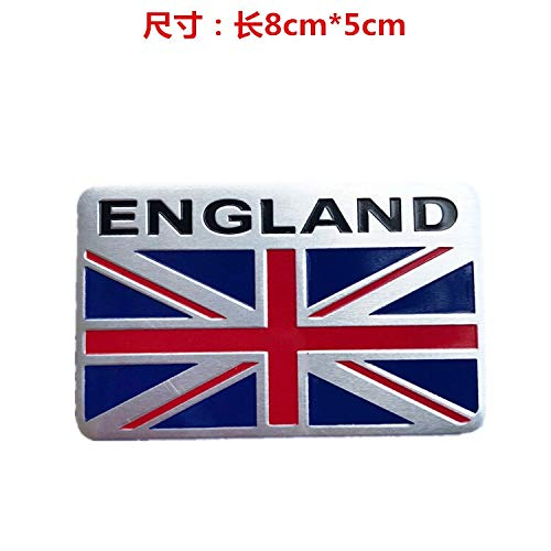 3D stickers British flag m word flag drawing personalized car stickers modified car decoration metal 3D stereo car stickers wholesale (Color : 2)
