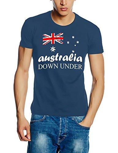 Coole-Fun-T-Shirts Australia Vintage NEU Down Under Australien Tshirt-Stoneblue GR.L