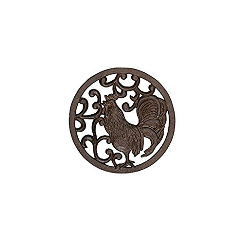 Carson Home Accents Cast Iron Trivet, Rooster