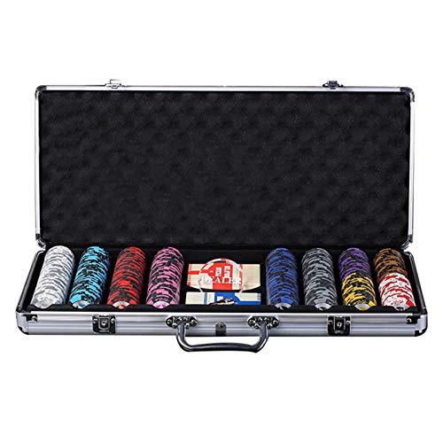 DBGA Póker Set, 400 Fichas, Set de Póker y Blackjack | Resistente Caja + Tapete de Juego | Fácil de Transportar