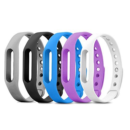 JUEYAN Xiaomi Mi Band 2 Armband Ersatz Wasserdichtes Mehrfarbiges Bracelet Ersatzband Fitness Tracker (Grau)