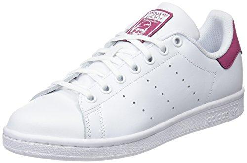 adidas Stan Smith J, Zapatillas de Gimnasia Unisex Niños, Blanco (FTWR White/FTWR White/FTWR White), 40 EU