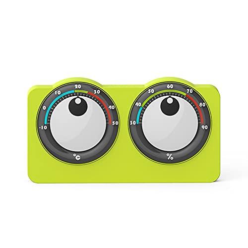 Taloit Termómetro e higrómetro creativo de ojos grandes para interiores y interiores, termómetro digital lindo higrómetro monitor de interior pequeño termómetro para habitación en el hogar