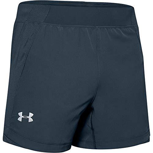 Under Armour Speedpocket Qualifier 5-inch Shorts Pantaloncini, Meccanico Blu (467)/Riflettente, XXXL Uomo