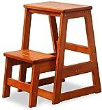 NSLQ Escalier en bois massif Tabouret livre Échelle Chaise pliante Tabouret Accueil Échelle