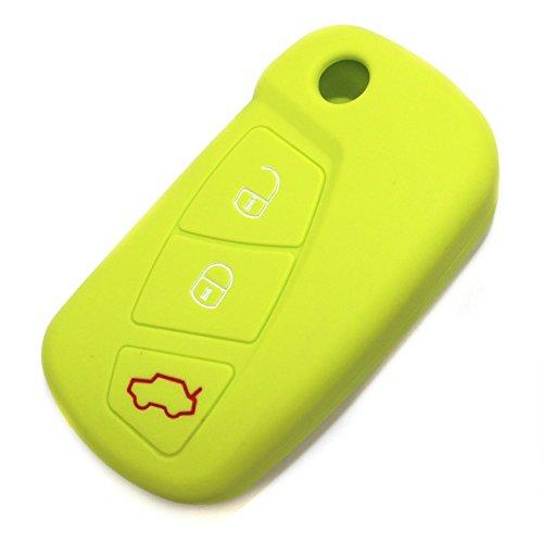 CoverYourKey Finest-Folia - FE - Coque en silicone pour clé de voiture à 3 boutons vert lime