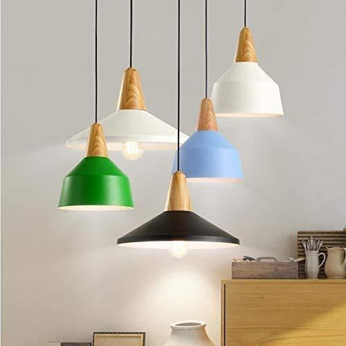 Ara Ntilde - Lámpara de araña para casa, estilo americano, creativa para restaurantes o salones, luces decorativas, de hierro forjado (color: azul oscuro, tamaño: 35 cm), 35 cm, color azul oscuro