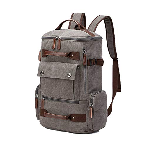 Men Outdoor Sports Travel School Pack Laptop Backpack Hiking Camping Bags Waterproof Bag GREY