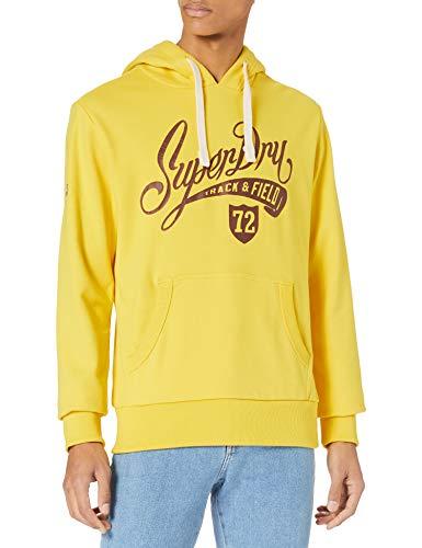 Superdry Mens Collegiate Graphic UB Overhead Hooded Sweatshirt, Nautical Yellow, XL