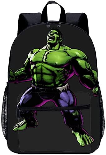 The Ave-ngers - Mochila escolar para niños con impresión 3D, adecuada para vacaciones de viaje y oficina, Hulk3, 13Zoll,