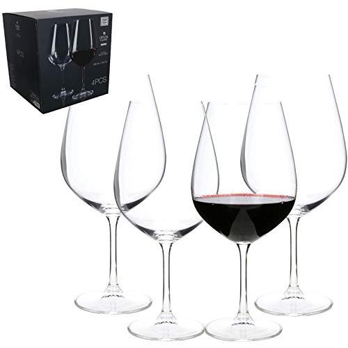 SCHOBERG XXL Weinglas 4 x 850ml Wein Gläser Weißweinglas Rotweinglas Weingläser Weinkelch