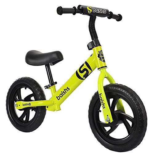 MYJOYSUE Andador para niños de 2 a 6 años Scooter para niños y niñas Bicicleta Deslizante sin Pedales de 12 Pulgadas