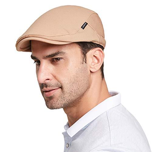 Gisdanchz Boinas Hombre Boina Mujer Gorras Planas Gorros Hombre Newsboy Hats For Men Boston Scally Cap Pageboy Hats For Men Newsies Hat Irish Hats For Men Pageboy Cap Camello