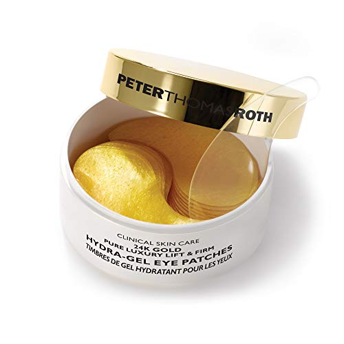 24K Gold Pure Luxury Lift & Firm Hydra-Gel Eye Patches, Anti-Aging Under-Eye Patches, Help Lift and Firm the Look of the Eye Area